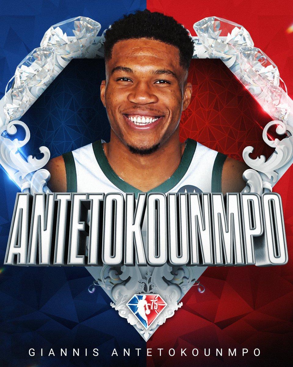 Selected to the NBA's 75th Anniversary Team... Giannis Antetokounmpo! #NBA75