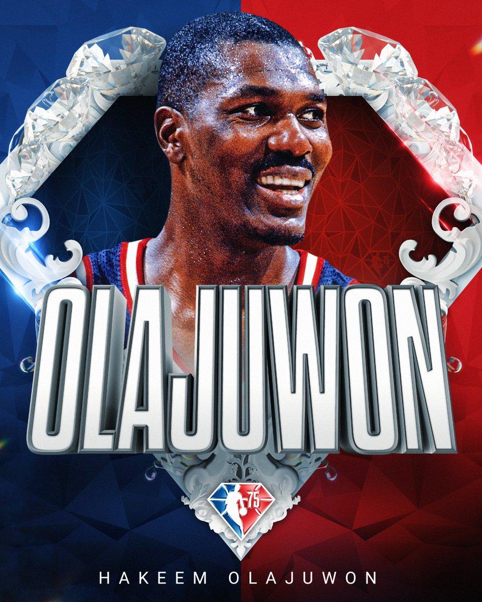 Selected to the NBA's 75th Anniversary Team... Hakeem Olajuwon! #NBA75