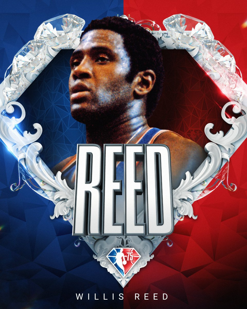 Selected to the NBA's 75th Anniversary Team... Willis Reed! #NBA75