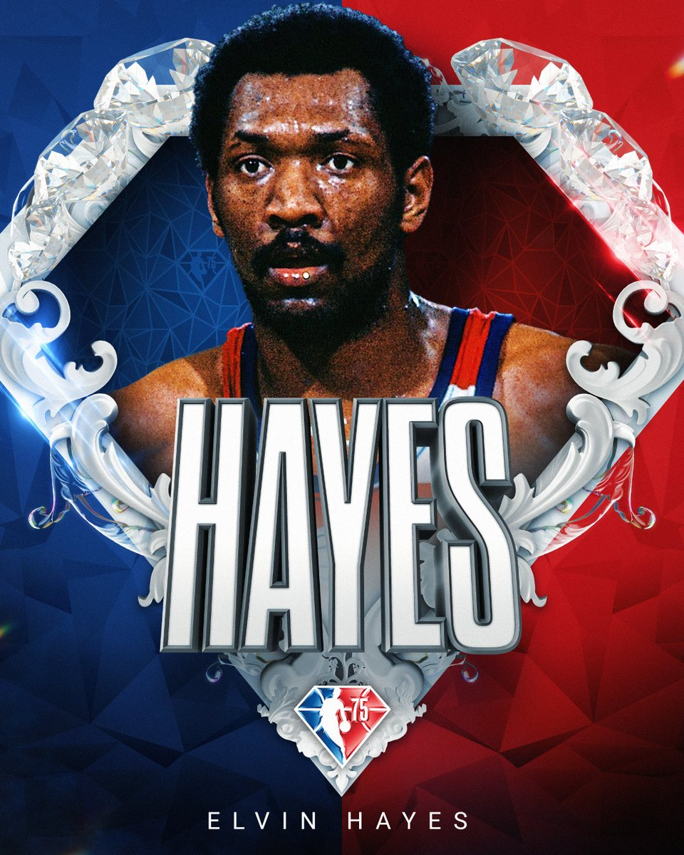 Selected to the NBA's 75th Anniversary Team... Elvin Hayes! #NBA75