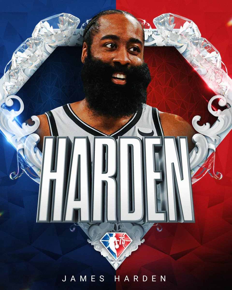 Selected to the NBA's 75th Anniversary Team... James Harden! #NBA75
