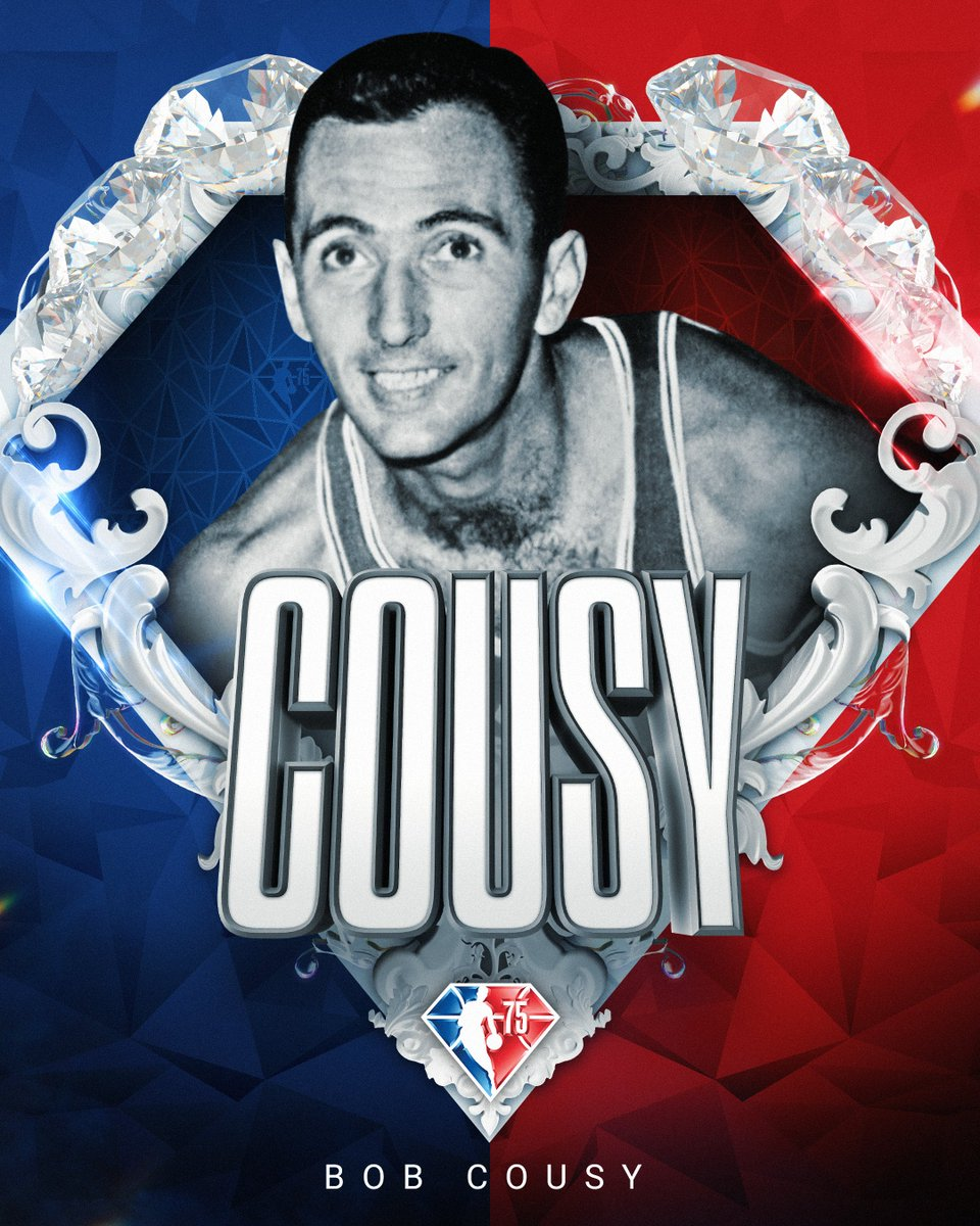 Selected to the NBA's 75th Anniversary Team... Bob Cousy! #NBA75