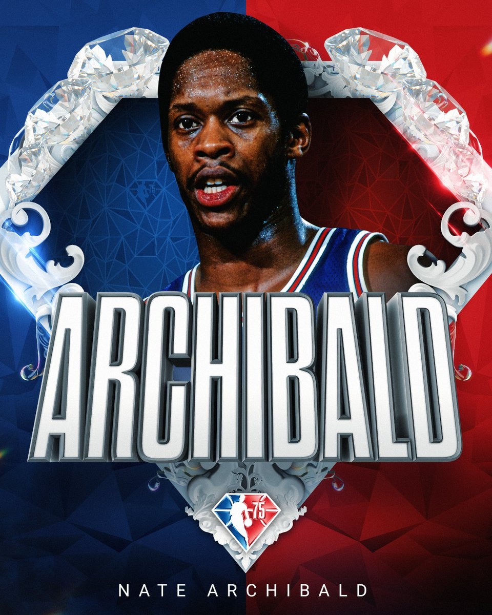 Selected to the NBA's 75th Anniversary Team... Nate Archibald! #NBA75