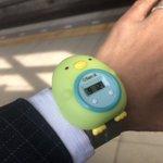 素敵なお父さん。「今日着けていく?着けていくよね?」としつこいから、娘から誕プレで貰ったペンギンの時計つけて会社へ。