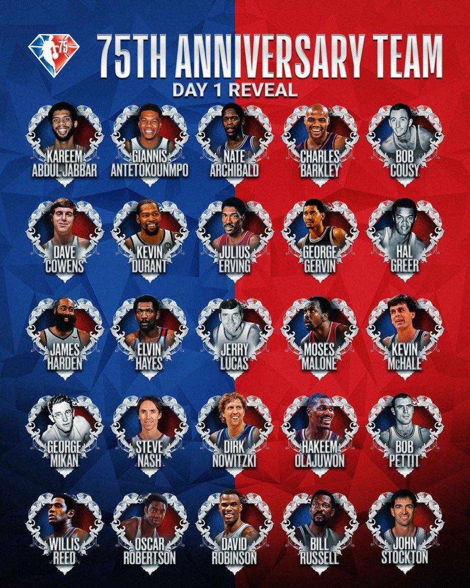 75th Anniversary Team: Day 1 Reveal.#NBA75