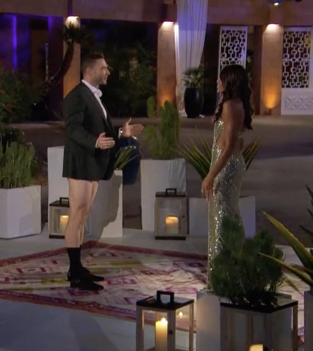 I love how it's always the pastiest men who decide to rock the shorts/no pants look ... #TheBachelorette