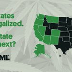 Image for the Tweet beginning: 18 states have legalized #marijuana