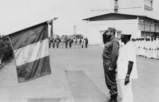 'Imperialism is trying to present socialism as a failure in practice, as a system with no future. And it is extolling to the utmost the advantages of its selfish and repugnant capitalist system.' Fidel Castro 🇨🇺 📷 with Sékou Touré 🇬🇳  #ShutDownAFRICOM  #LetCubaLive