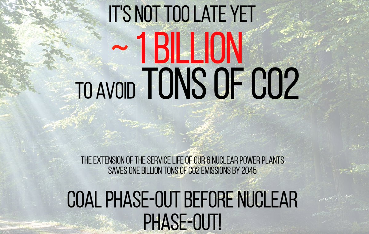 We can avoid an additional billion tonnes of CO2 emissions if Germany phases out coal before nuclear power. Yes, a BILLION tonnes. onebilliontons.org