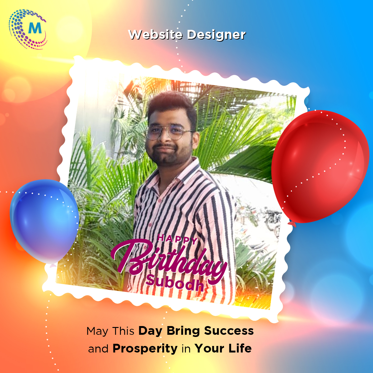 Happy Birthday Subodh  May This Day Bring Success and Prosperity in Your Life. . #milkywayinfotech #milkywaybirthdaywishes #happybirthday #birthdaywishes #birthdayparty #celebrations #birthdaycelebrations