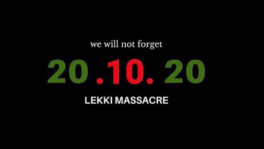 Today we honour those innocent lives lost exactly a year ago at Lekki toll gate 🇳🇬💔 #EndSARSMemorial #EndPoliceBrutality #EndSARS