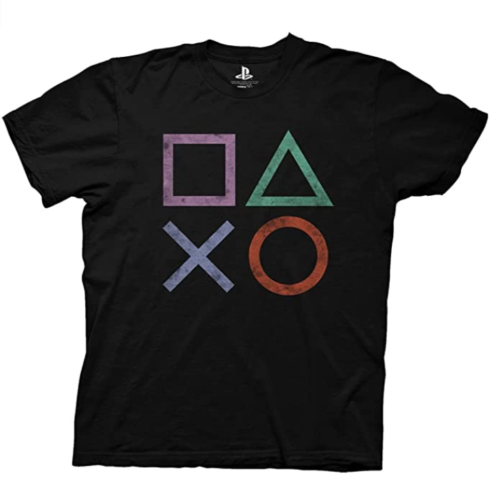 Vintage PlayStation Icons  T-Shirt Officially Licensed $19.95 - $26.95 Amazon
