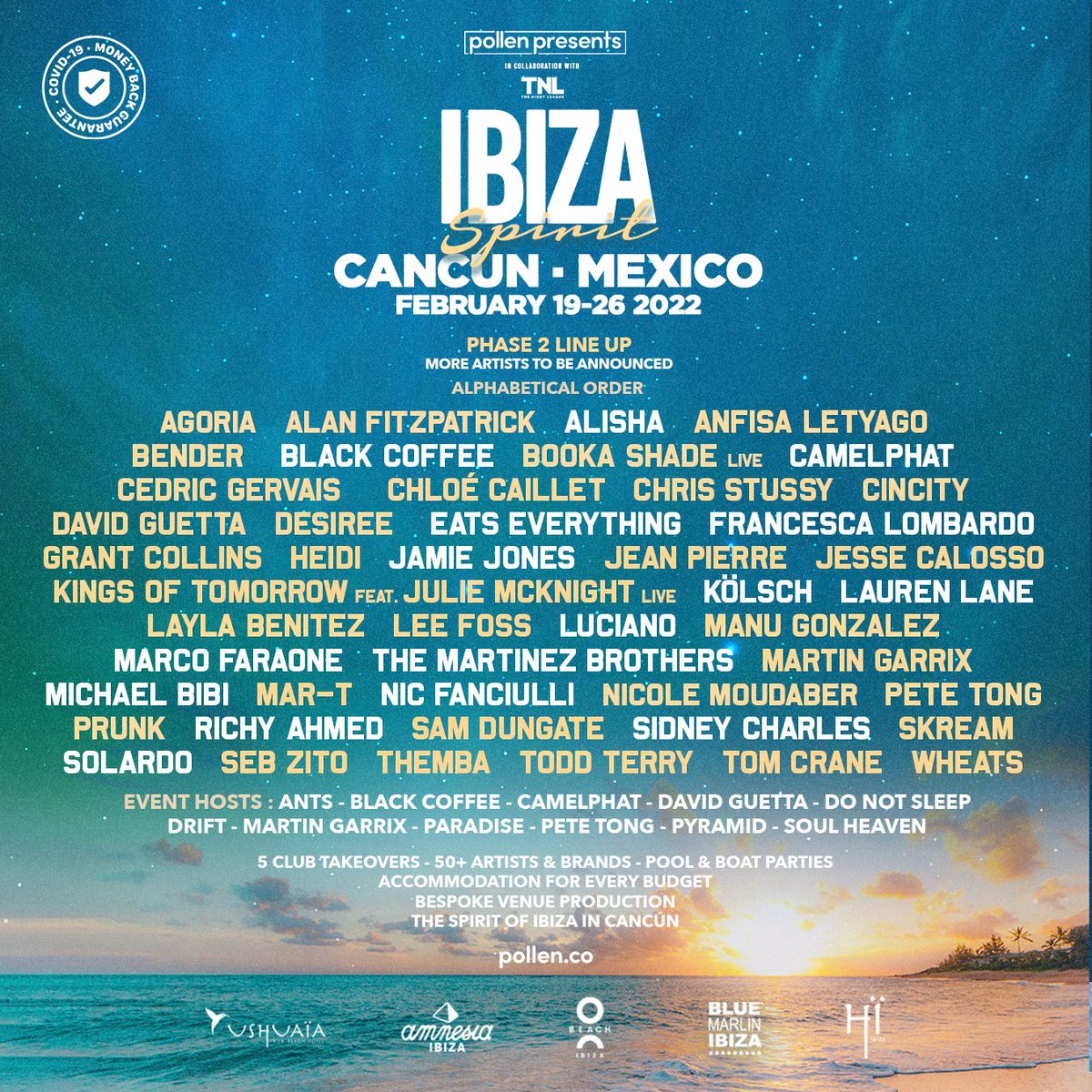MEXICO we're coming in Feb 22… check out this line up! Register here for info / access plln.io/ibizaspirit-ca…