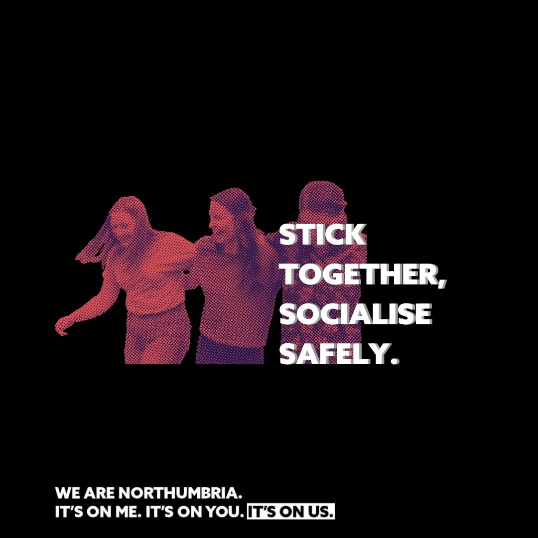 Sticking together on a night out is a great way to keep safe. We've put together loads of advice and guidance on the Student Portal, including how to download our SafeZone app for extra peace of mind https://t.co/8wCYF1Q5sH https://t.co/pQfvTn3NnL