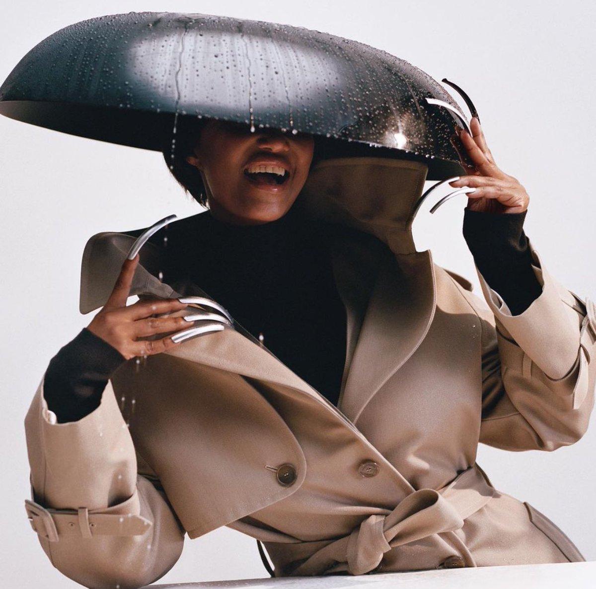 Iman for Interview Magazine wearing Balenciaga Couture
