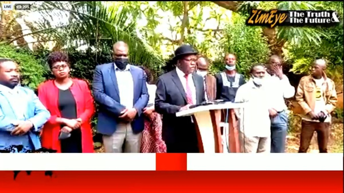 The reason for the banning of MDC Alliance is very simple, Mnangagwa did not win the 2018 elections, says @BitiTendai LIVE: MDC Alliance Press Conference zimeye.net/2021/10/20/liv…