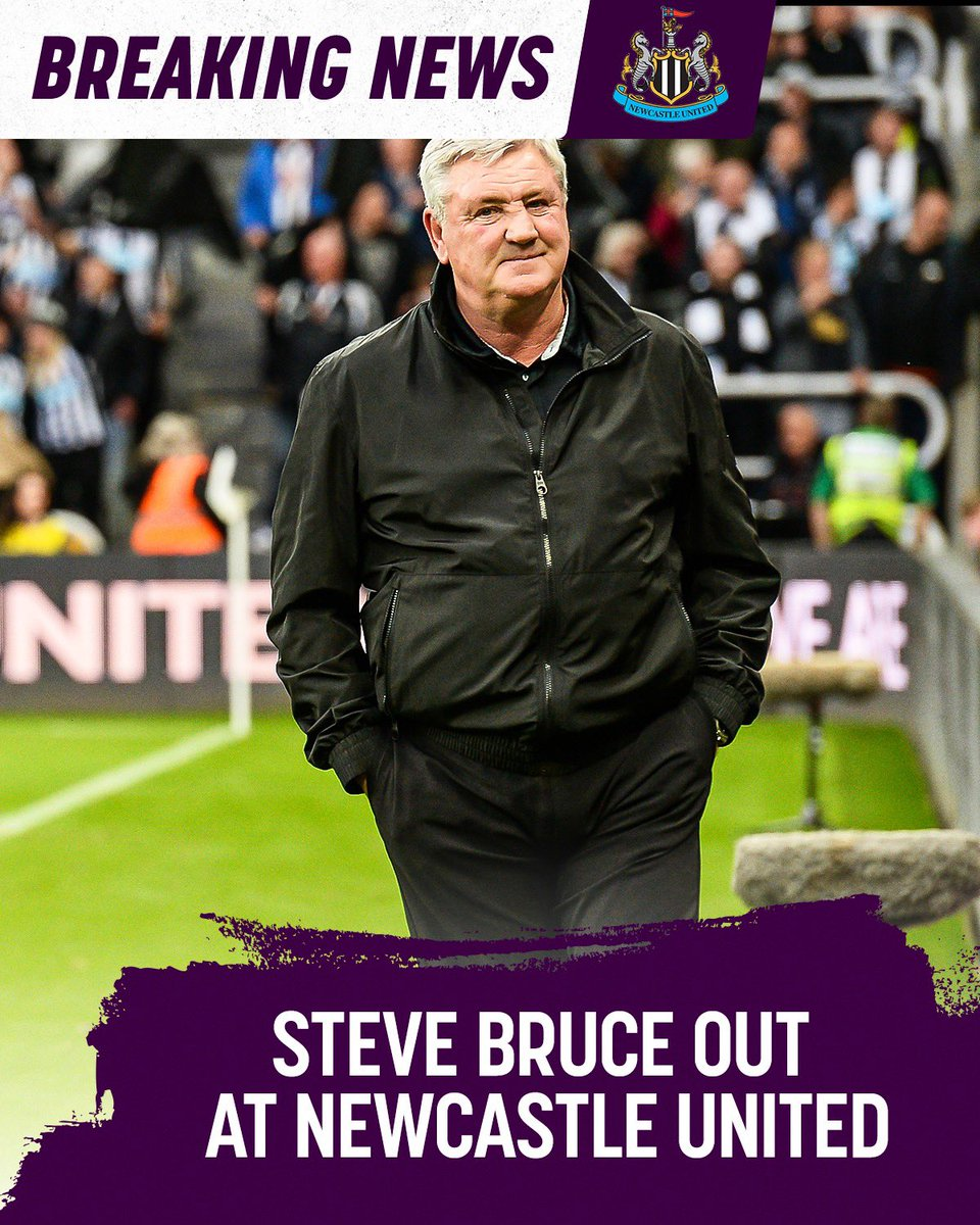 Newcastle and their new owners making their first moves. Steve Bruce is out.
