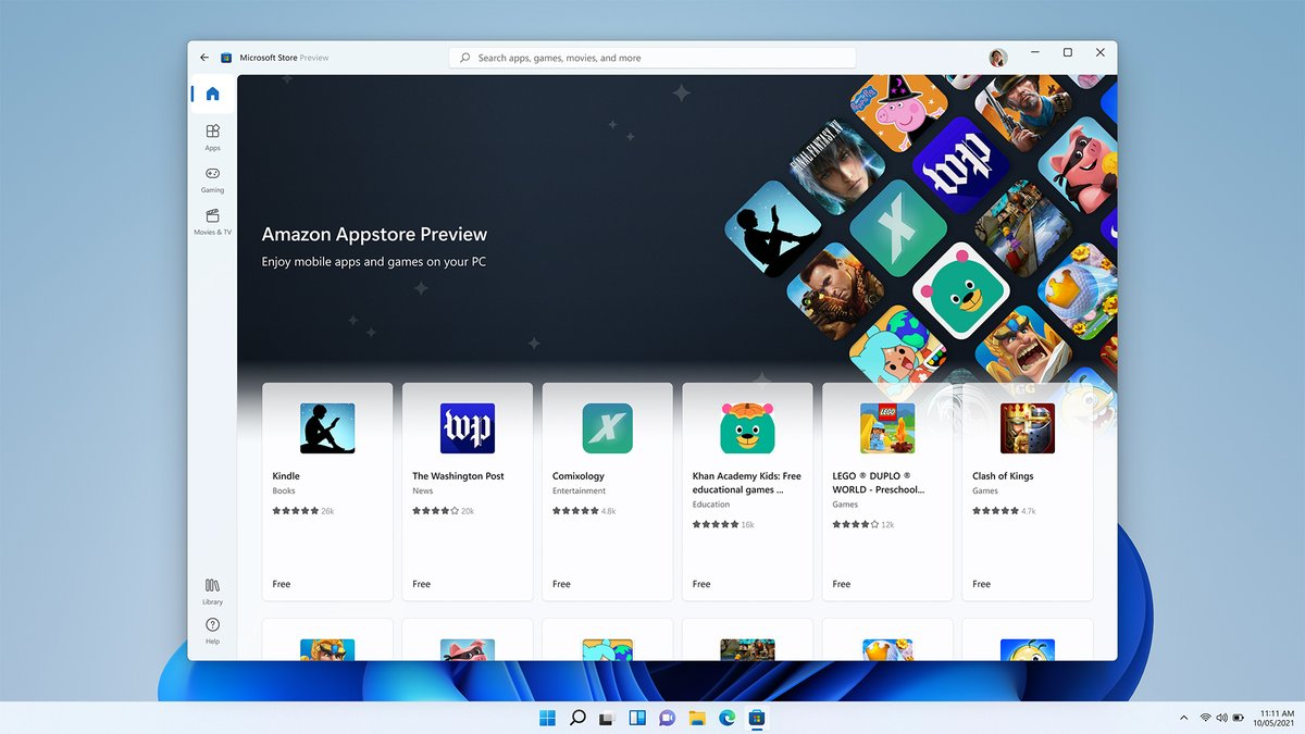 Windows 11 beta users can start testing Android apps