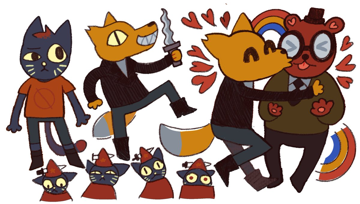 RT @backwardmind: lil doodles from my annual playthrough of nitw. i would die for gregg and angus. https://t.co/ekFvj8o98b