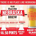 Cheers! 😁🍻 It's a wonderful day to enjoy a Dear Old Nebraska Brew from @ZiplineBrewing at DJ's! AND you even get to keep the Dear Old Nebraska Brew glass when you order one! While supplies last. Stop in & enjoy today!