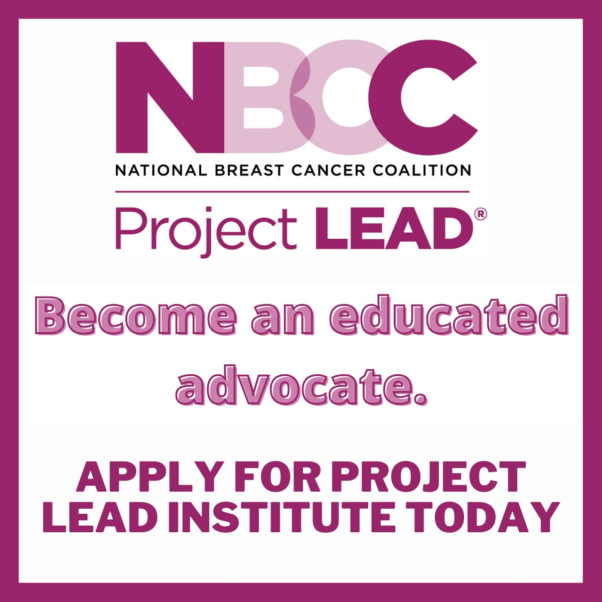 test Twitter Media - Have you submitted your application for the 2022 Project LEAD Institute? We need advocates like you to help ensure that the educated and trained patient voice is heard everywhere that decisions about breast cancer are made. Apply today! https://t.co/b5pm2gca7o https://t.co/PnvL21MKs8