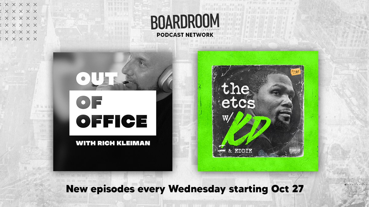 Our pods are back.  🎙️ #TheETCs w/ @KDTrey5 + @bansky: 10/27  🎙️ #OutOfOffice w/ @richkleiman:  11/3   Stay tuned.