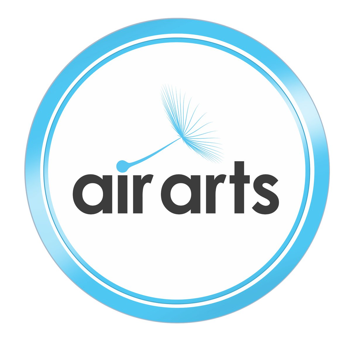 Today we are proud to reveal our New Air Arts Logo! 💙🤩🥳 @LauraWatersUHDB @UHDBTrust @hospitalcharity @paulvincentbro1 @CathyWinfield @gavinUHDB