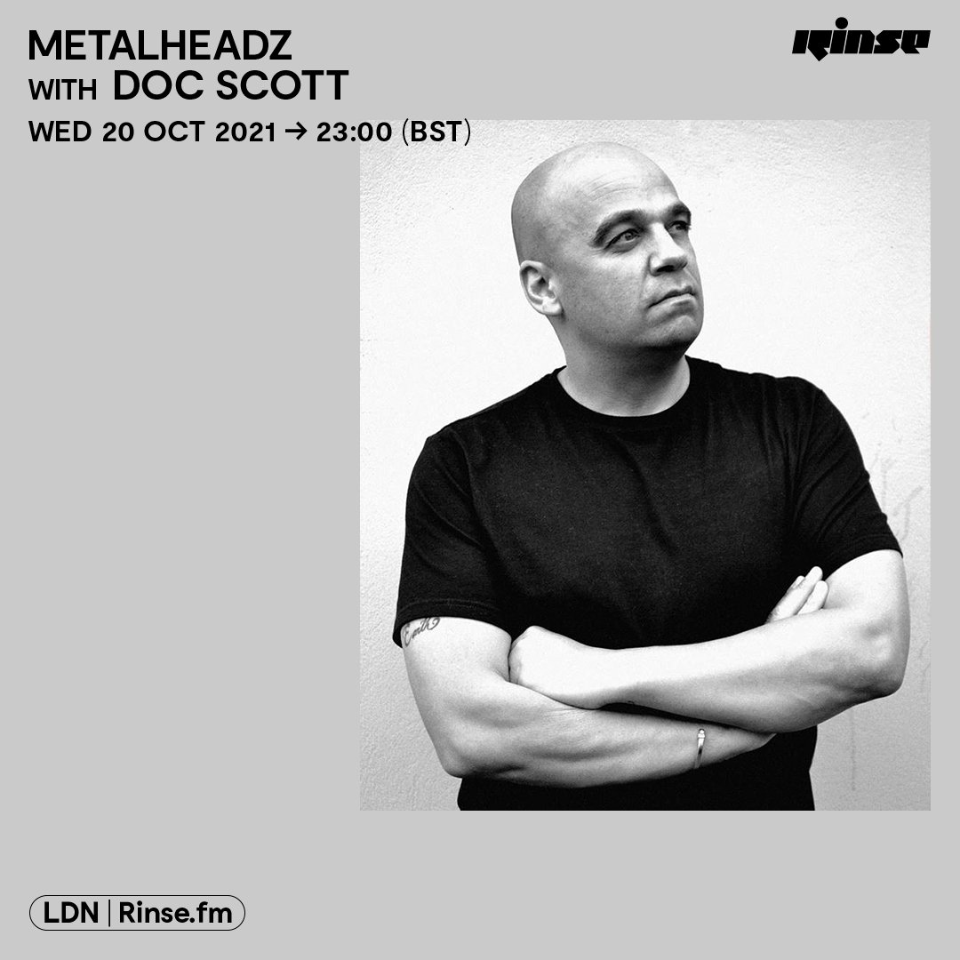 Tonight on Rinse FM we've got @docscott31 in the mix for the full 2 hours 📻🔊