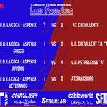 Image for the Tweet beginning: #Aspe: Resultados UD la Coca-
