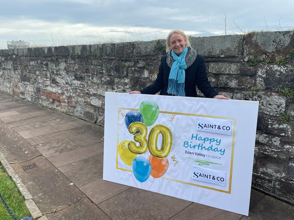test Twitter Media - Happy 30th Birthday Eden Valley Hospice @EVHospice from @Lindsay_Farrer and everyone at Saint & Co @Saints_Accs https://t.co/tRi0NhgzZN