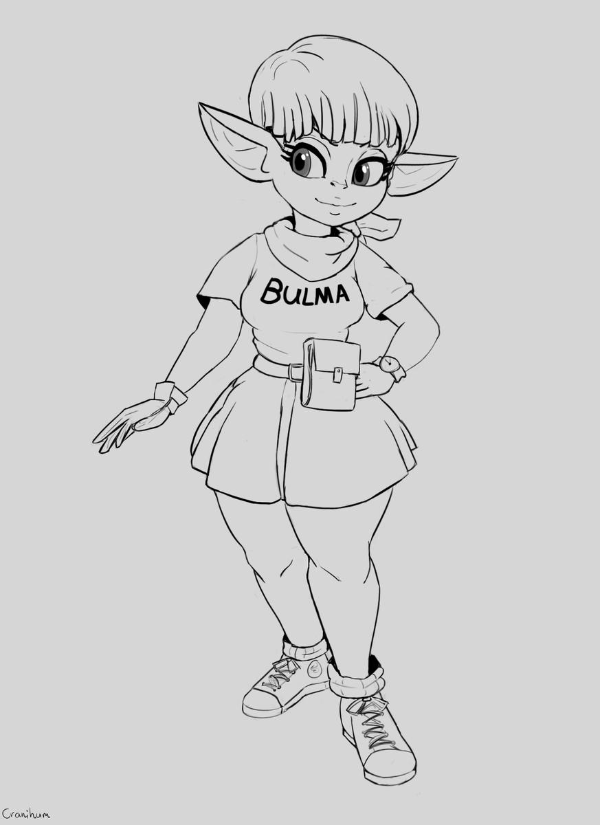 Gobtober Day 20 - Anime Cosplay What if #bulma was a goblin  #gobtober2021 #shortstack