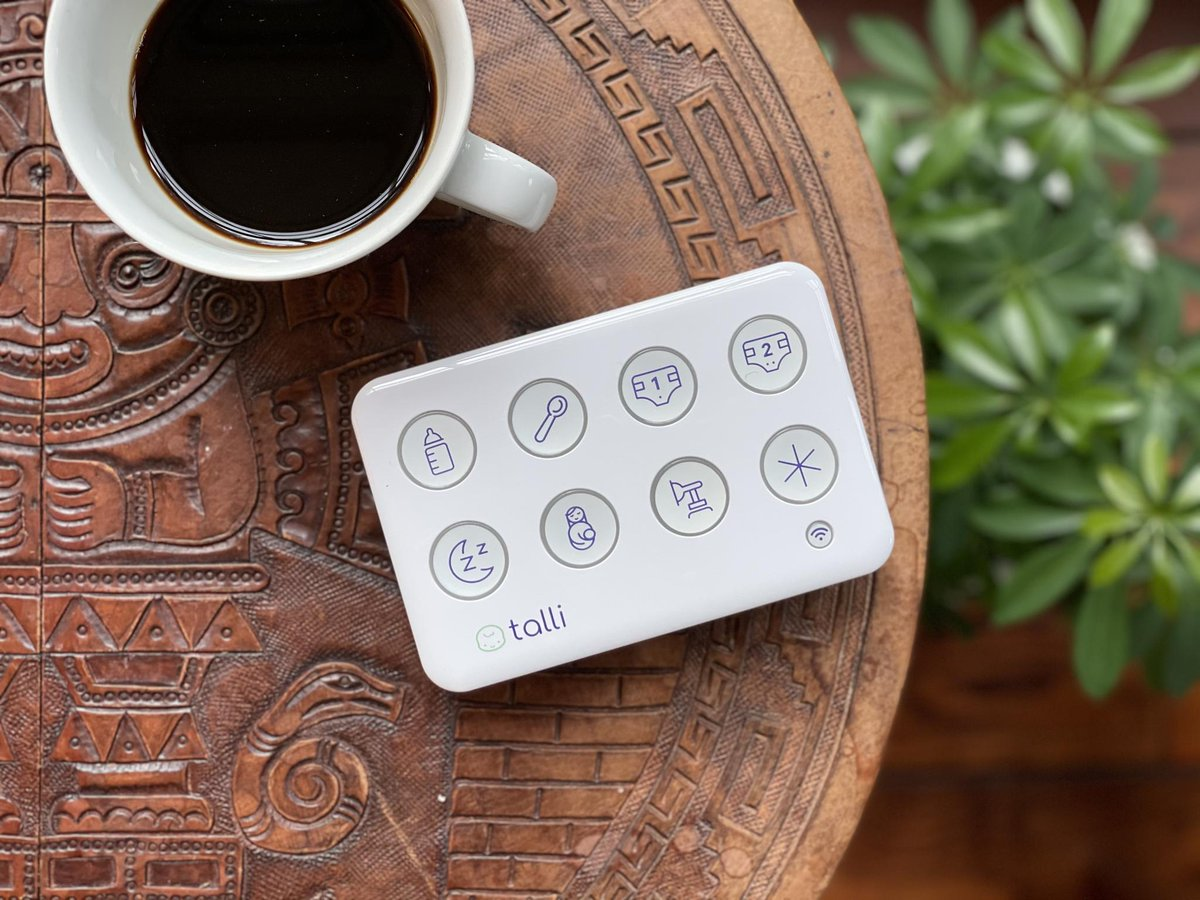 The Talli Baby tracker is a one-touch system for logging kids activities