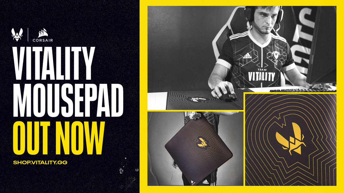 No more excuses for missing a shot The Vitality x @CORSAIR mousepad is now available 🎯bit.ly/3pmQNW1