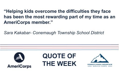 Grab your dose of #WednesdayWisdom from Sara on how using her #AmeriCorps 🅰️ to help students SOAR only inspires her to do more⤵️  Then, join in & reply with the most rewarding part of #GettingThingsDone for you! https://t.co/RuAkf2ijJ4