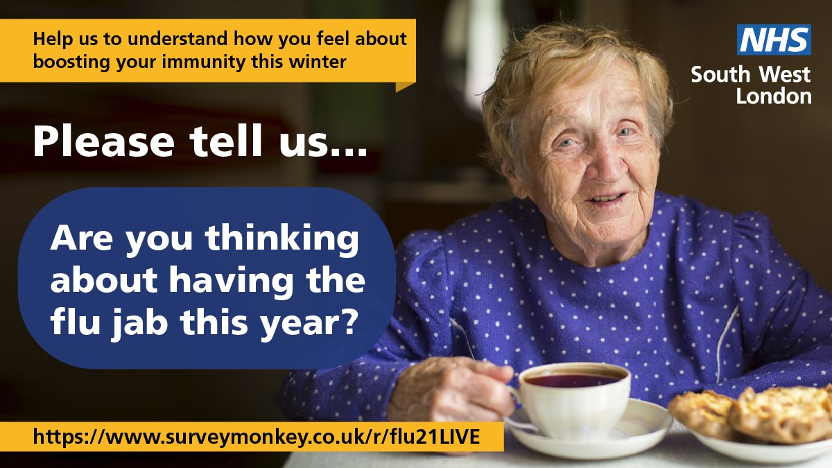 With 2 viruses circulating this winter, we want to ensure everyone is informed about Flu and Covid booster vaccines. If you live in Croydon, are aged 50-64 or are parents of 2 -3 year olds, complete our short survey for the chance to win a £100 voucher. ow.ly/70TD50GuvQ4