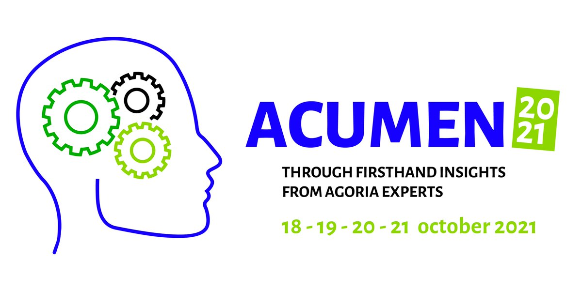Schrijf u vandaag nog in voor de #Acumen Closing Plenary op 21 oktober: een sessie van 60 wervelende minuten met een straffe mix van live interviews met @BartSteukers, @HermanDerache en @JohanHaelterman, expert pitches & ledengetuigenissen! https://t.co/HTj6fi0U4e https://t.co/UHENJFPFfE