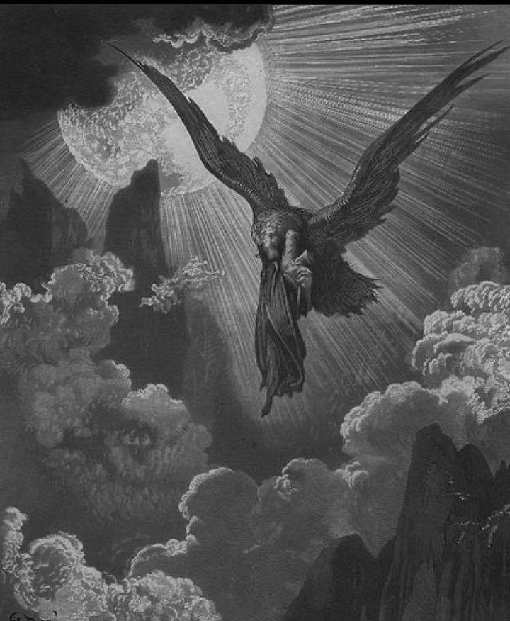 Uykusuzluğun bir hastalıktan ziyade, karakterim olmuş.  (Dante & The Eagle, illustration by Gustave Dore)