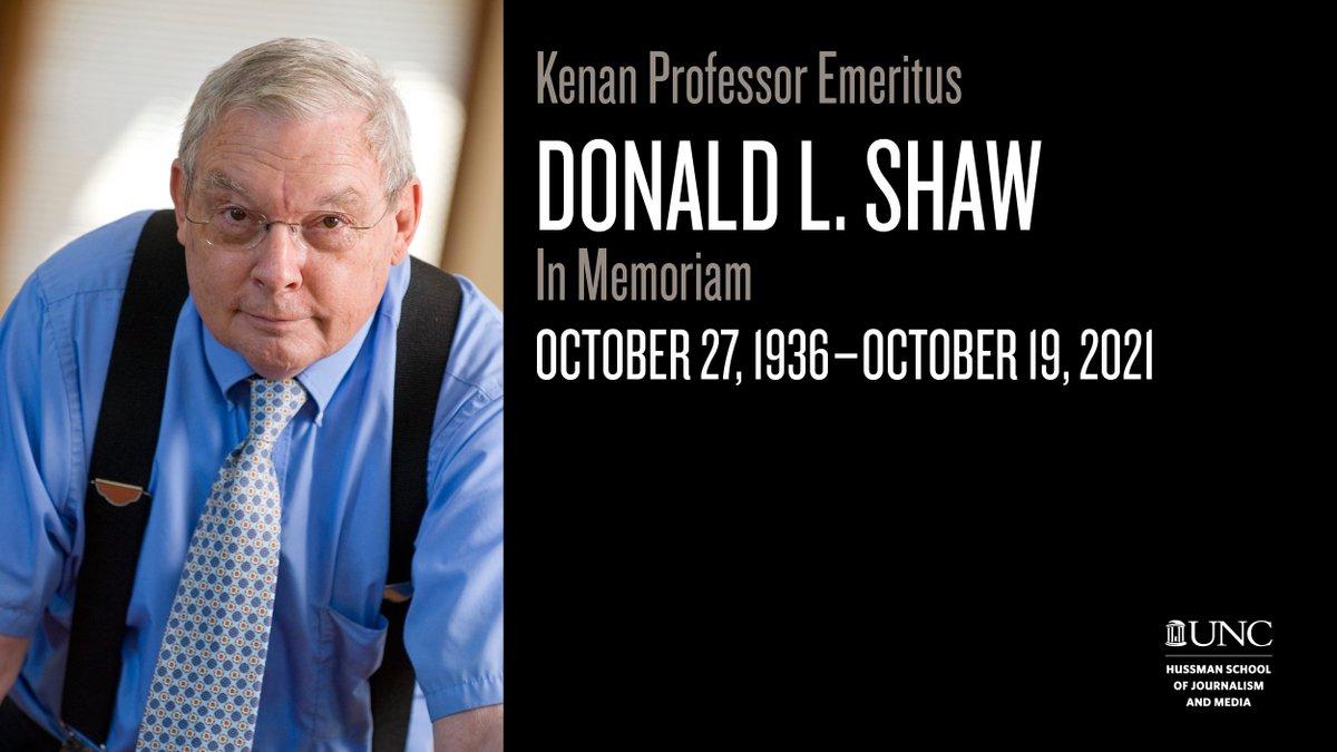 Ha fallecido Donald L. Shaw (1936-2021). Junto a Maxwell McCombs, publicó en 1972 la influyente teoría de la agenda-setting, que explica cómo los temas más visibilizados por los medios de comunicación terminan siendo percibidos como los más relevantes por parte del público. https://t.co/RT51jNxWg4