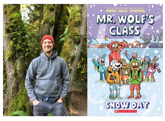 """test Twitter Media - """"For Teachers, By Teachers""""  Aron Nels Steinke reflects on his journey from teaching to writing and shares the backstory for his graphic novel series, Mr. Wolf's Class. Visit our blog for the interview and much more! #kidlit https://t.co/n44pOm7qS8 @Scholastic @GraphixBooks https://t.co/VySUiJQTsT"""