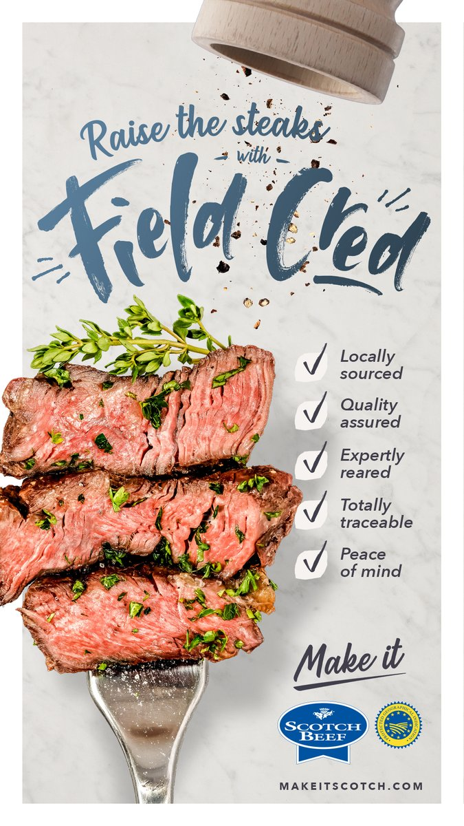 Locally sourced, quality assured and totally traceable - that's what gives Scotch Beef PGI Field Cred. This visual is part of our marketing campaign in the run-up to COP26. Find out more information on our activities in our toolkit: qmscotland.co.uk/sites/default/…