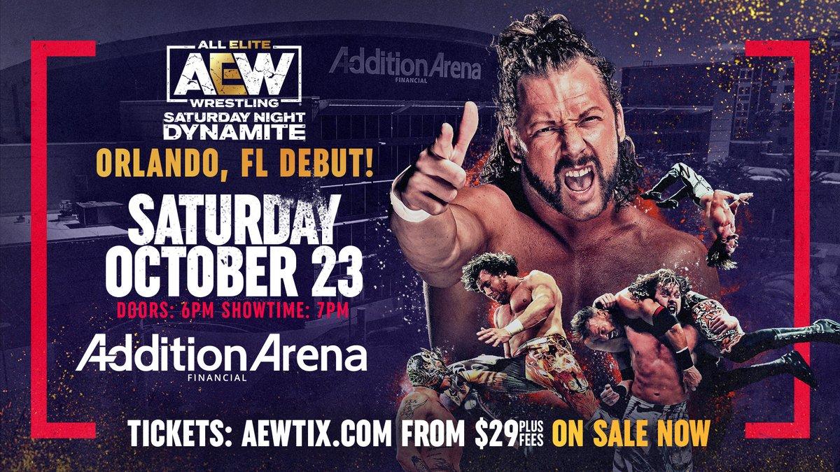 This week, a Special Saturday Night #AEWDynamite is LIVE at 8/7c on TNT from Orlando: #AEW World Title Eliminator Tournament matches: -@bryandanielson v @dustinrhodes -@LanceHoyt v @MadKing1981 PLUS -#MalakaiBlack v @CodyRhodes 3 🎟 - AEWTIX.com