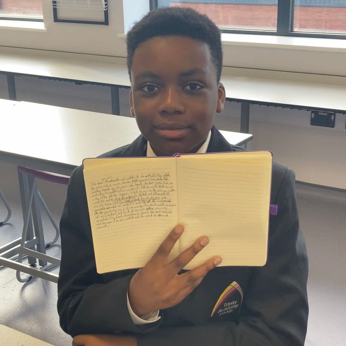 We love this glimpse into @MissBuryTeach's Creative Writing Involve club! ✍️✨ Our students have been writing some incredible pieces during their first half term at TAL ... We can't wait to read more when they get back 💜🙌 #CreativeWriting #HalfTerm #Year7