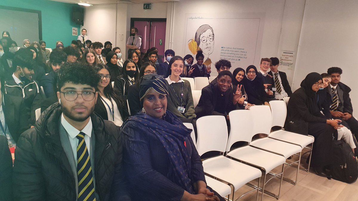 #nofgm feeling like floating on air. These students 200 of them were absolutely brilliant.  Asking me most amazing relevant questions.  @LAEstratford you have wonderful intelligence students. Had most amazing session. Met my former students from primary school too .