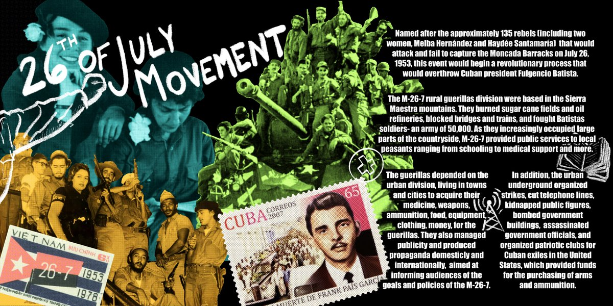 The 26th of July Movement or M-26-7 brought the Neo-Colonial Republic to its end, earning them this weeks star players spot in our history #FromUnderTheEmpire series.