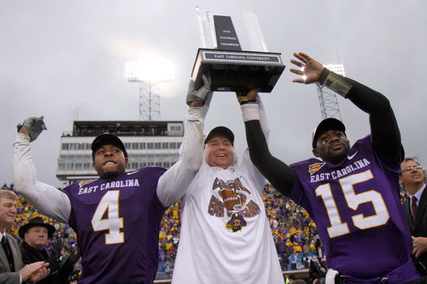 ECU and Houston faced off in the C-USA championship in 2009. The pirates were able to outlast the cougars 38-32 and secure their second consecutive conference championship. #WaybackWednesday