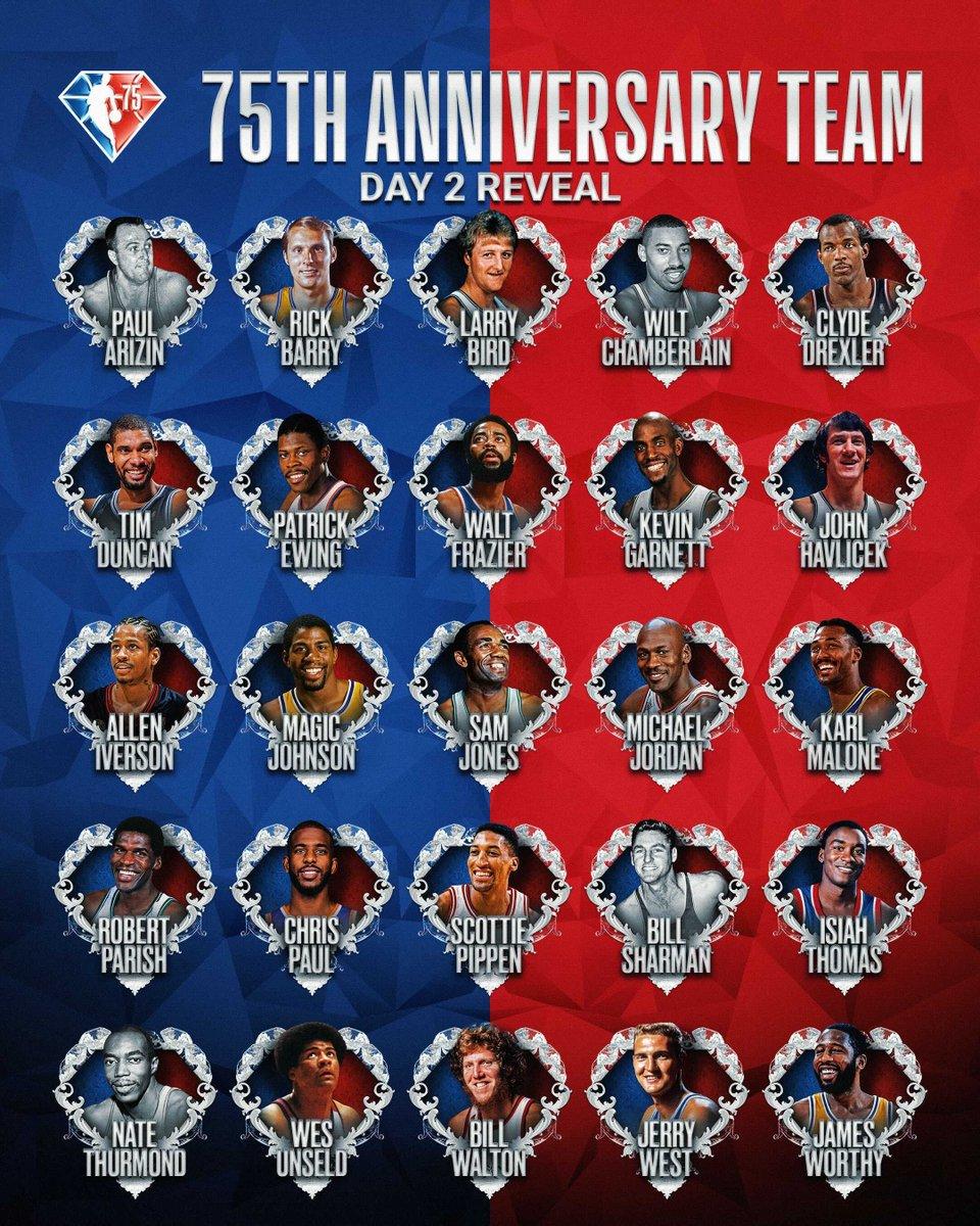 The next 25 members of the 75th Anniversary Team! #NBA75