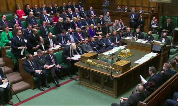 'There are many things we can all do..like wearing face coverings in crowded or close spaces.' - Sajid Javid. Err, PMQs?