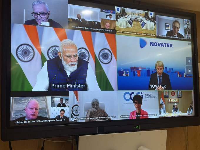 With global oil prices on rise, PM Modi meets CEOs of global oil majors