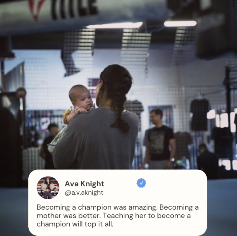 test Twitter Media - Former world champion @A_V_A_Knight shares a touching moment and her mindset on motherhood 🥊 #WomenInBoxing https://t.co/vKPrL2rMWx