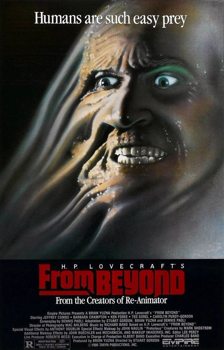 On the menu later, From Beyond (1986).  #frombeyond #hplovecraft #HorrorMovies